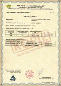 Certifikát procesu svařování ČSN EN ISO 3834-2:2006 (str. 2)