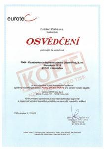 Osvědčení pro aplikaci hydroizolačního systému PARALON NT5 PONTS pro silniční mostní objekty