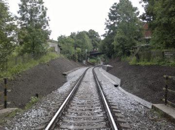 zrekonstruovaná kolej na trati Děčín východ–Benešov nad Ploučnicí, nový stav