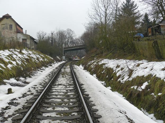 kolej na trati Děčín východ–Benešov nad Ploučnicí, původní stav
