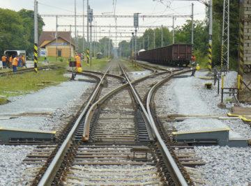 zrekonstruované výhybkové zhlaví na Slezském předměstí v Hradci Králové, nový stav