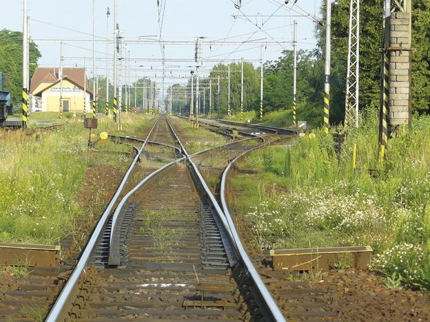 výhybkové zhlaví na Slezském předměstí v Hradci Králové, původní stav