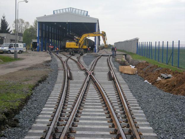 rekonstrukce výhybek na vlečce Správy Letiště Praha, …