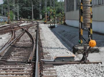 oprava výhybek v žst. Litoměřice dolní nádraží, celkový pohled na hotové dílo
