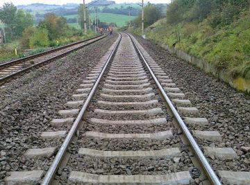 opravená kolej na trati Ohníč–Světec