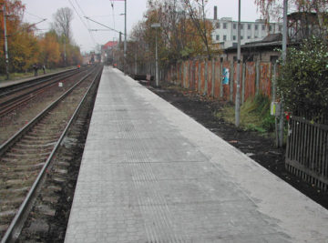 nástupiště Proboštov, dokončené dílo