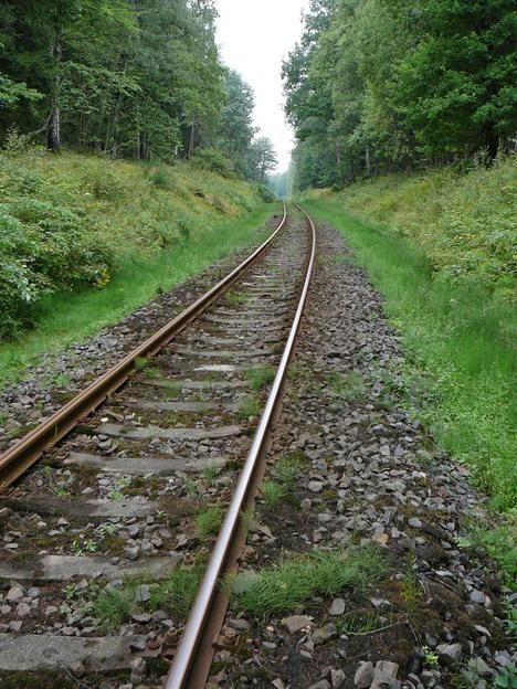 mezistaniční úsek Rumburk–Šluknov, kolej před opravou