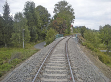 zrekonstruovaná kolej na trati Šluknov–Dolní Poustevna, nový stav