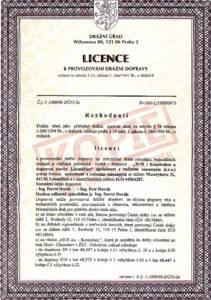 Licence k provozování drážní dopravy (str. 1)
