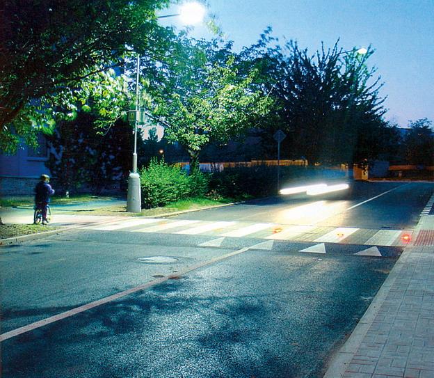 rekonstrukce městské komunikace v Litoměřicích, světelný přechod pro chodce
