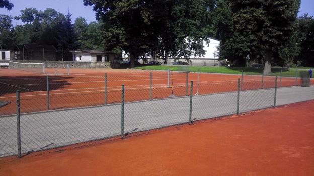 tenisové kurty v Litoměřicích po opravě