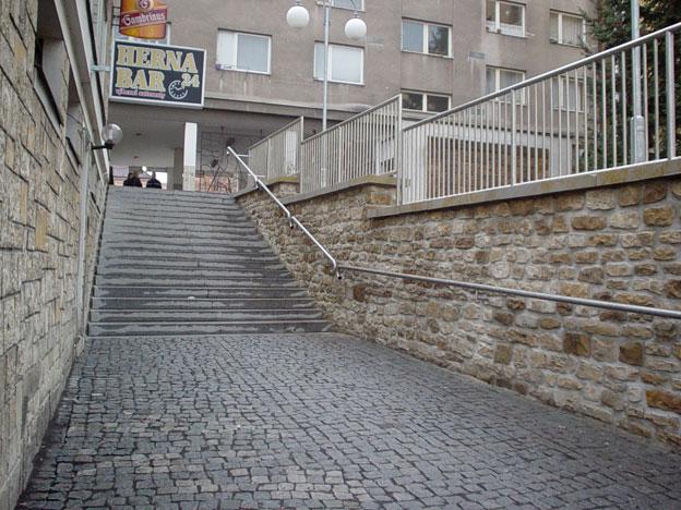 schody k řece Ohři v Lounech, dokončené dílo