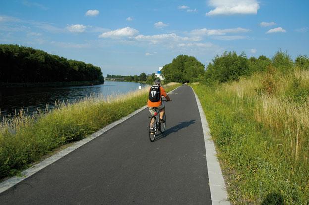 cyklistická stezka na levém břehu Labe v Nymburce, dokončené dílo