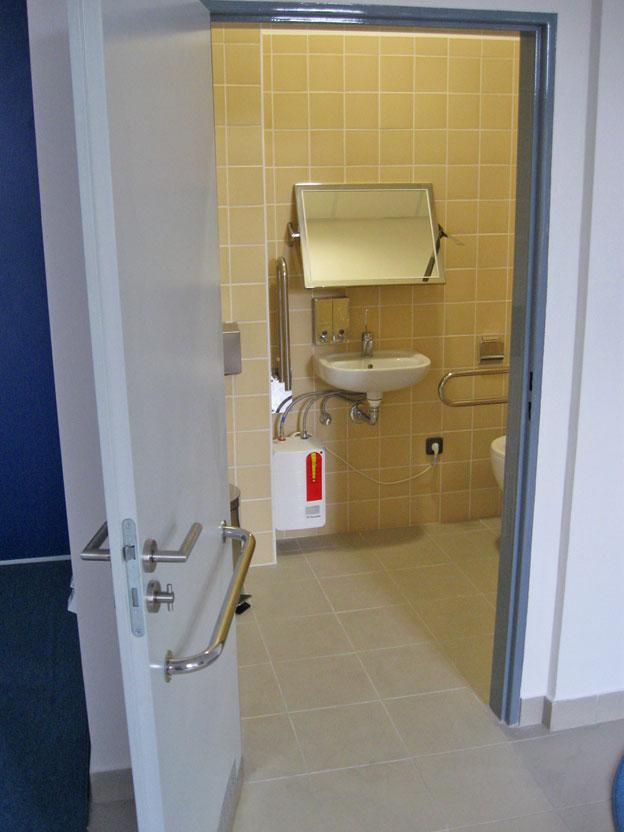 otevřená recepce Policie ČR – OOP Litoměřice v Roudnici nad Labem, toaleta