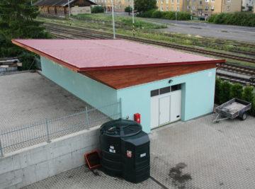 sklad firmy v Litoměřicích, hotové dílo