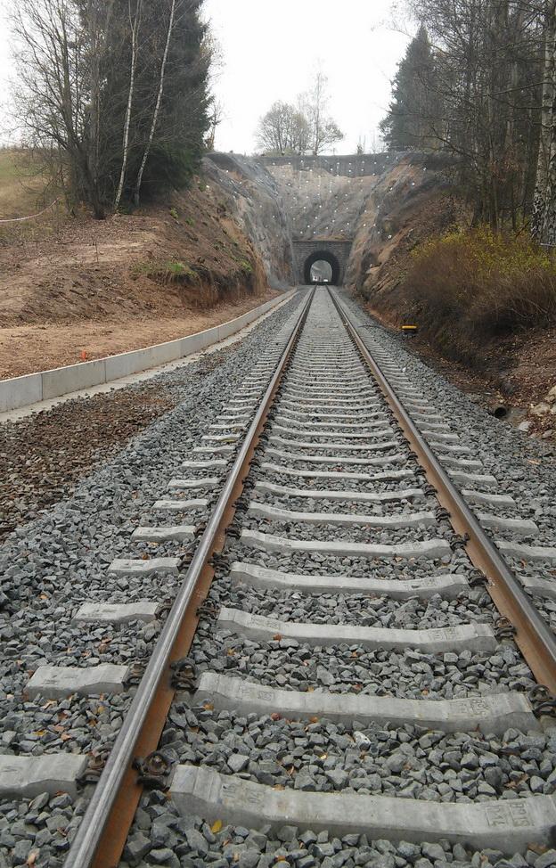 trať Liberec-Tanvald, odvodnění železničního spodku