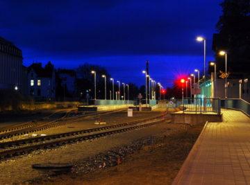 Litoměřice h.n., nová železniční stanice Litoměřice horní nádraží