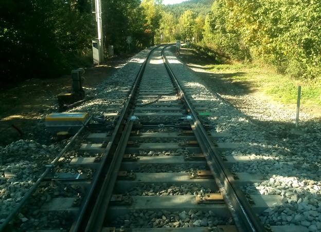 po vyčištění štěrkového lože a úpravě GPK traťové koleje