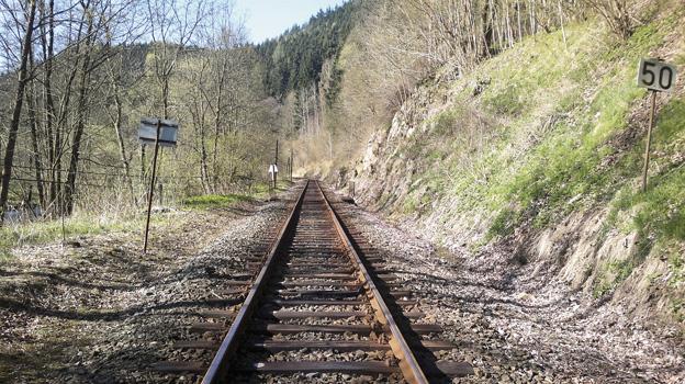 Rekonstrukce trati Bečov—Karlovy Vary; původní stav