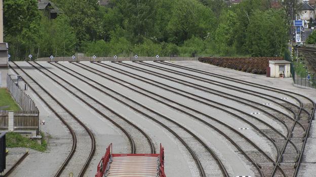 rozšíření kolejiště vlečky v areálu Ryko; nový stav