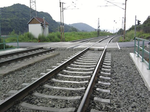 trať Ústí nad Labem–Děčín, opravené koleje včetně přejezdu