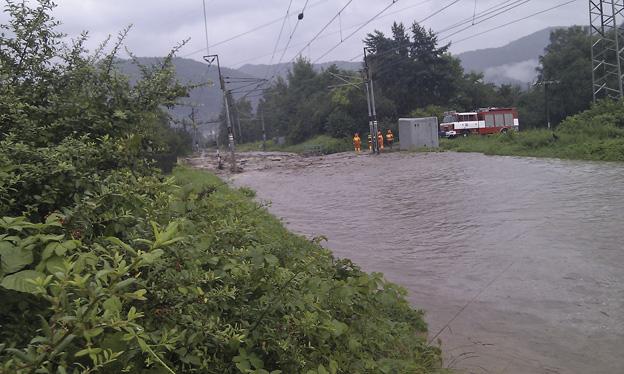 trať Ústí nad Labem–Děčín, povodeň 2010