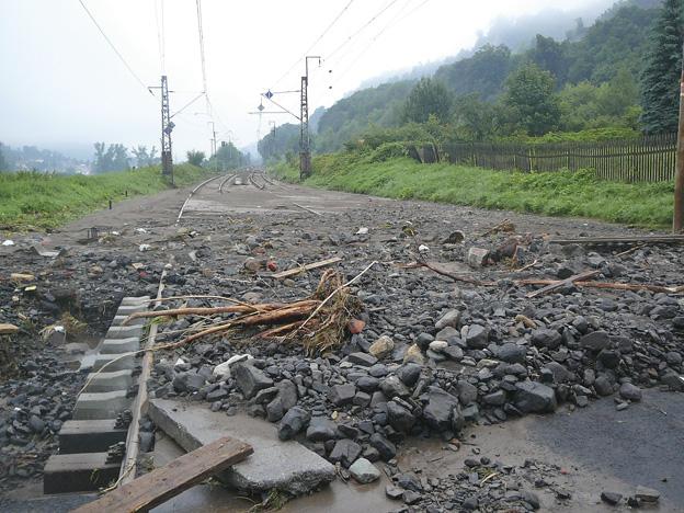 trať Ústí nad Labem–Děčín, stav po povodni