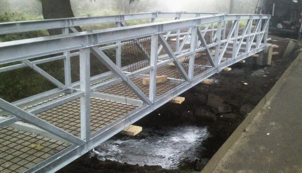 lávka Stvolínky, zhotovení železobetonové mostovky