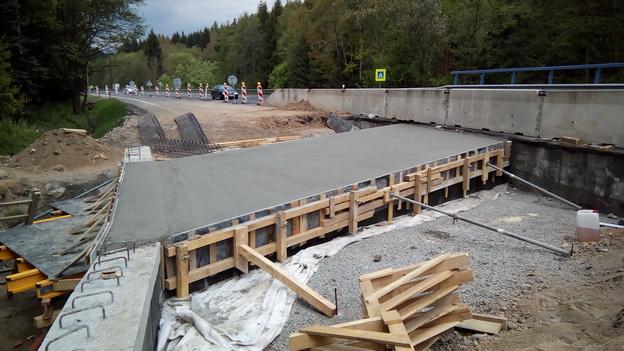 betonáž nosné desky
