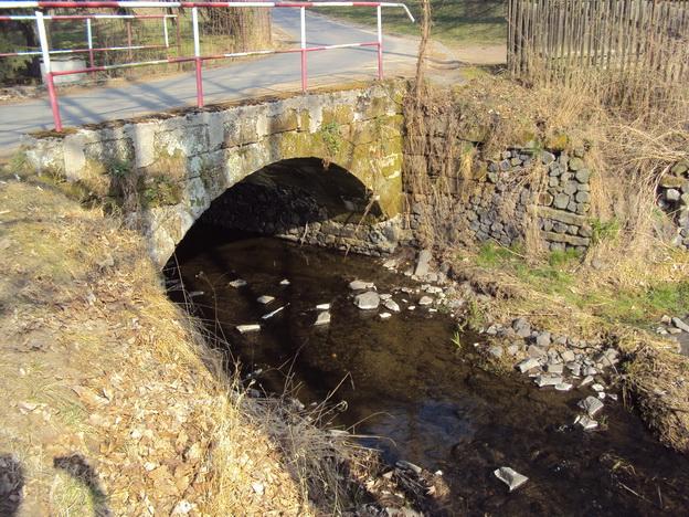 most Volfartice, původní stav
