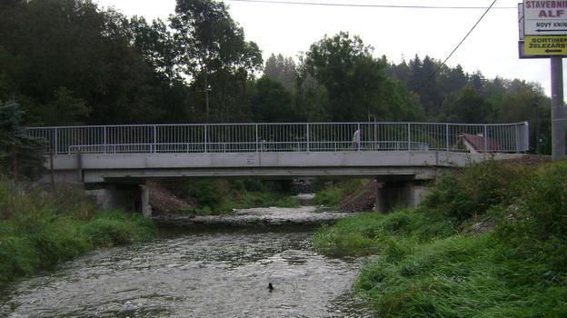 obnovený most po povodni Nový Knín