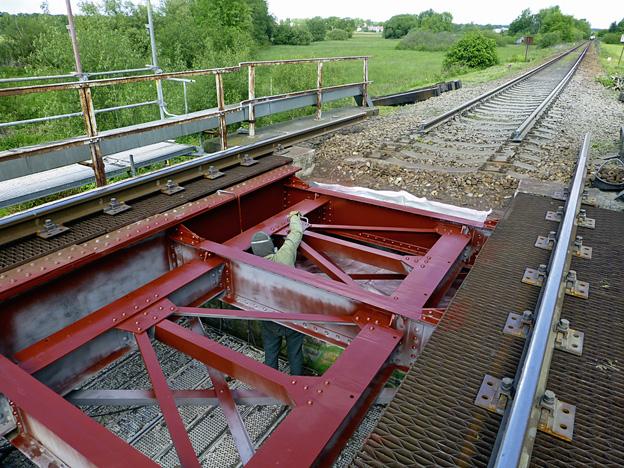 mosty na trati Dvory-Třeboň, protikorozní ochrana ocelové konstrukce