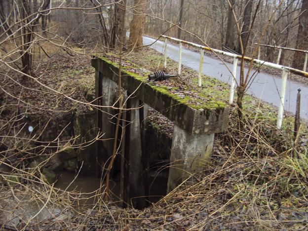 most v Heřmanicích v Podještědí, původní stav – vtok