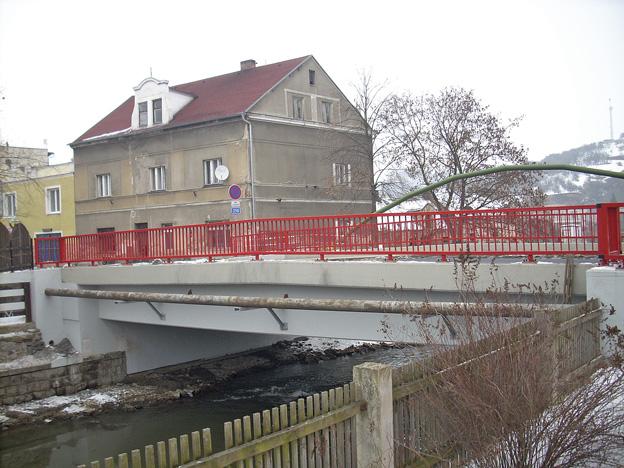 Hostomice, rekonstrukce stávajícího železobetonového mostu