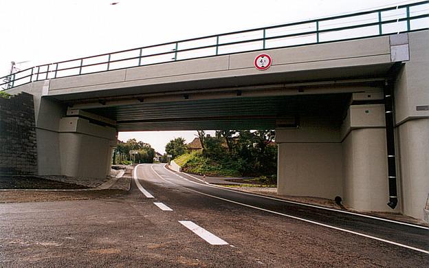 most Hrdly, pohled na nový most ze severu
