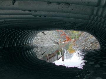 most Lkáň, průhled novým tubosiderem