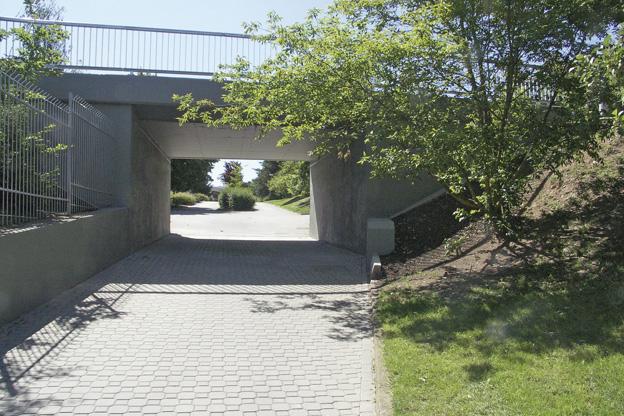 podchod v Lounech, dokončené dílo