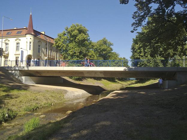 Rakovník, nový železobetonový most na stávajících podpěrách