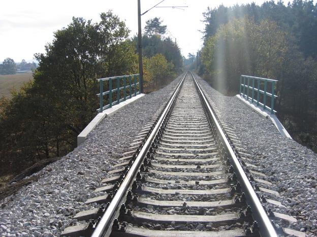 most Střelské Hoštice, nový stav trati