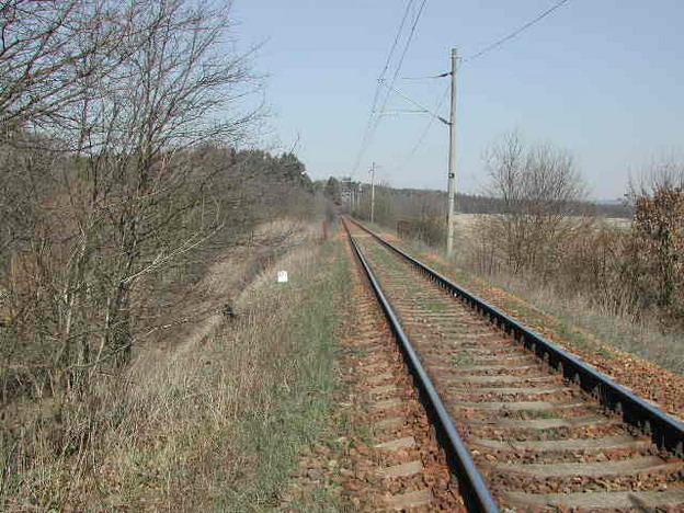 most Střelské Hoštice, původní stav trati