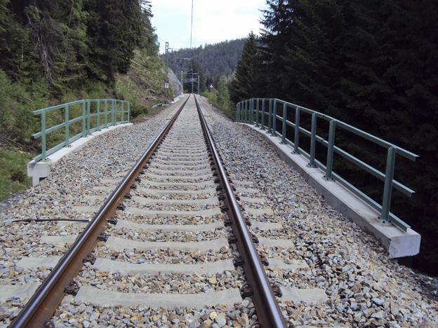 Rekonstruovaný most – pohled shora