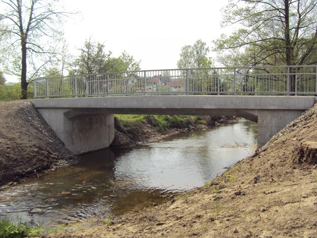 Rekonstruovaný most v Brništi