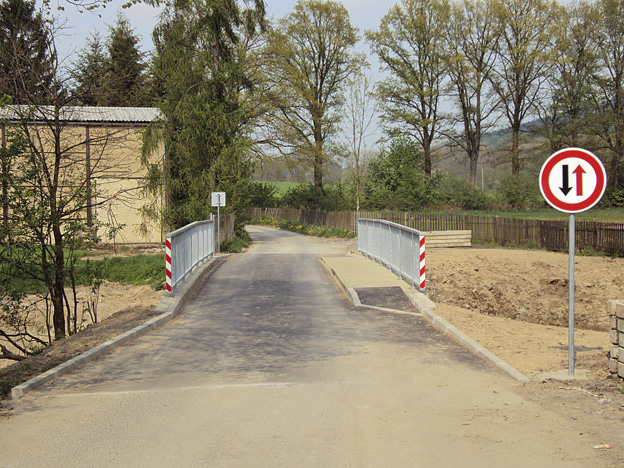 Rekonstruovaný mostek v Brništi