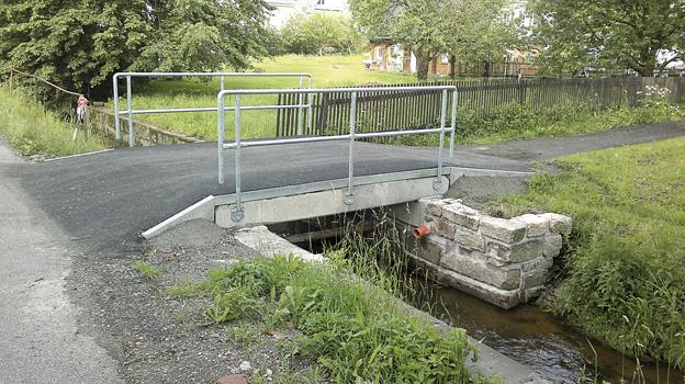 Rekonstruovaný mostek ve Šluknově