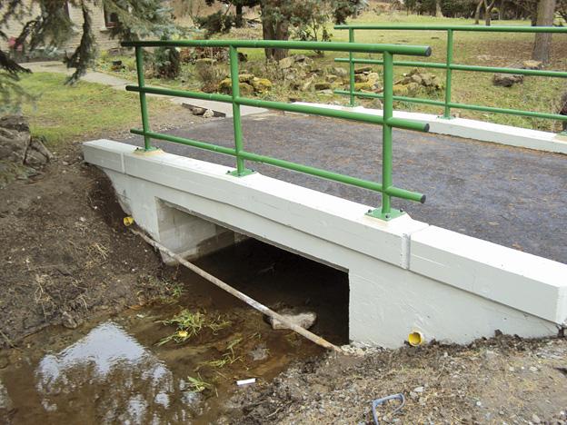 Rekonstruovaný mostek v Srbské Kamenici