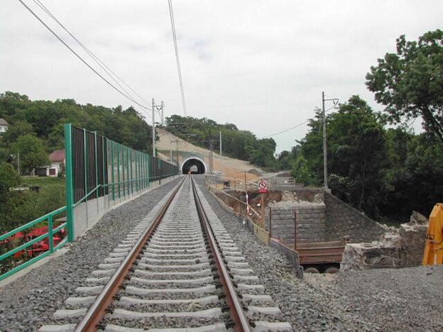 protihluková zeď Vepřek – průhledné panely na mostě