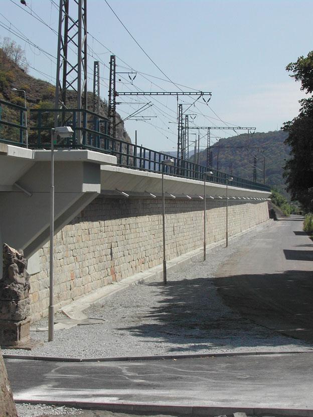 opěrná zeď v Ústí nad Labem, dokončené dílo