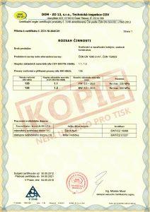 CERTIFIKÁT procesu svařování ISO 3834-2:2006 b