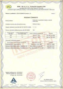 Certifikát procesu svařování ČSN EN ISO 3834 b